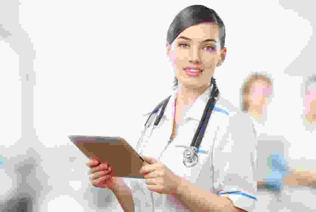 Doctor having communication